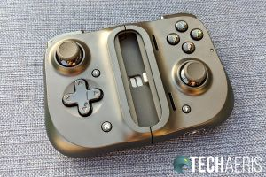 The front of the Razer Kishi Universal Gaming Controller for Android when collapsed