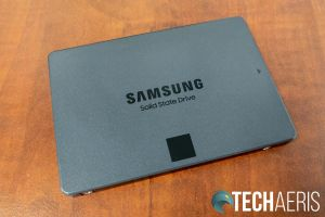 Top of the Samsung 870 QVO SATA SSD