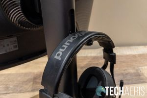 The Samsung Odyssey G7 curved gaming monitor even has a headphone stand on the back