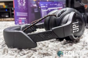 The headband on the JBL Quantum ONE gaming headset is adjustable