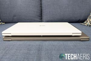 The back edge on the LG gram 14- and 15-inch laptops