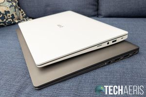 The right side ports on the LG gram 14- and 15-inch laptops