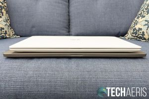 The front edge on the LG gram 14- and 15-inch laptops