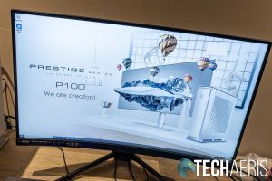 The display on the MSI Optix MAG272CQR curved gaming monitor