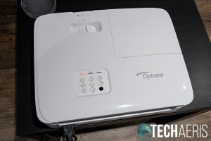 The top of the Optoma GT1080HDR short-throw gaming projector