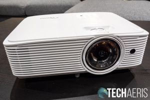 The front of the Optoma GT1080HDR short-throw gaming projector