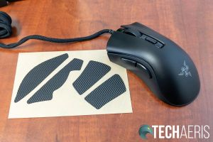 The Razer Mouse Grip Tape for the Razer DeathAdder V2 Mini gaming mouse