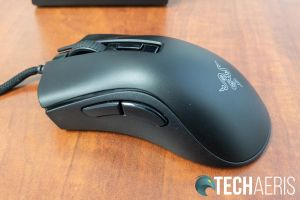 Left side of the Razer DeathAdder V2 Mini gaming mouse