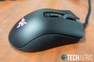 Right side of the Razer DeathAdder V2 Mini gaming mouse